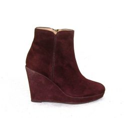 Pedro Anton brown wedge ankle boot