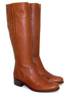 Gianna di Firenze tan leather flat boot