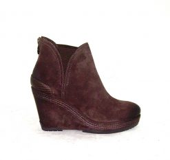 Geox Armonia brown suede wedge ankle boot