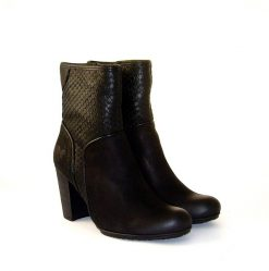 Felmini black leather ankle boot