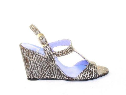 KMB bronze wedge sandal
