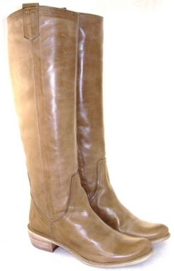 Spiral tan full length boot