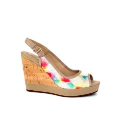 Geox Janira wedge sandal in multicolour