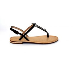 Geox Sozy flat sandal in black