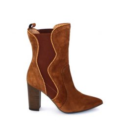 Marian tan suede calf boot