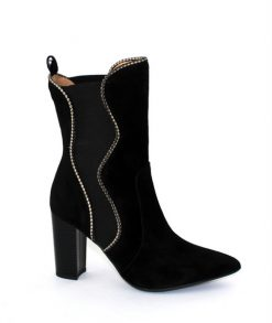 Marian black suede calf boot