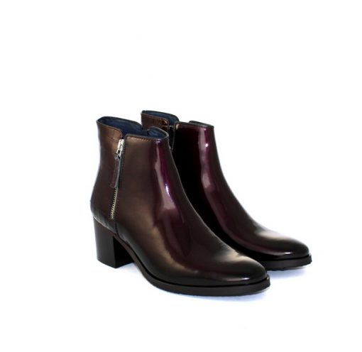 Pinto di Blu burgundy patent ankle boot