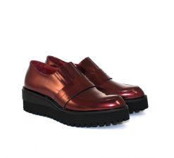Marco Moreo burgundy metallic loafer