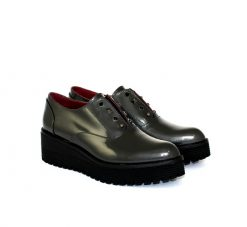 Marco Moreo grey patent loafer