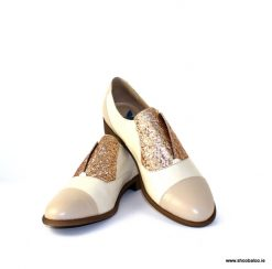 Pinto di Blu nude sparkly loafer
