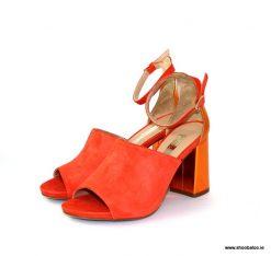 Marian orange suede sandal