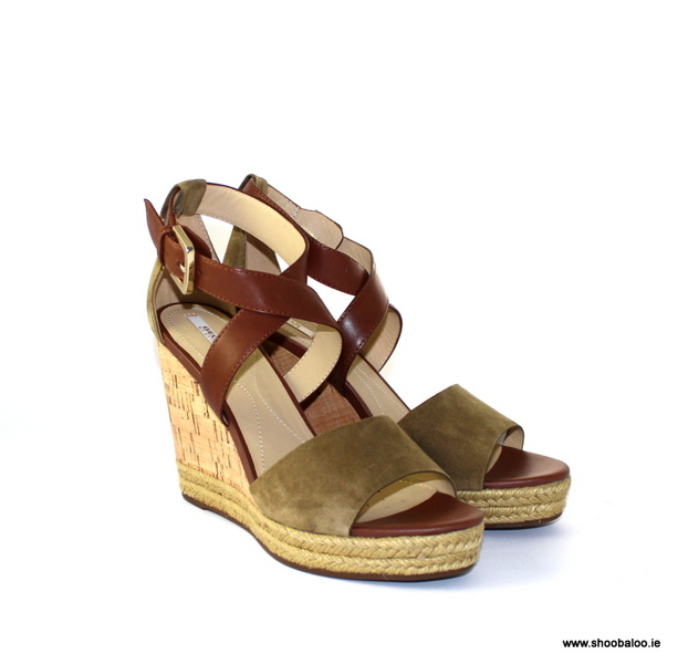 142738e63ee9 The product is already in the wishlist! Browse Wishlist · Geox Janira wedge  in khaki