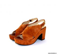 Geox Zaferly sandal in rust suede