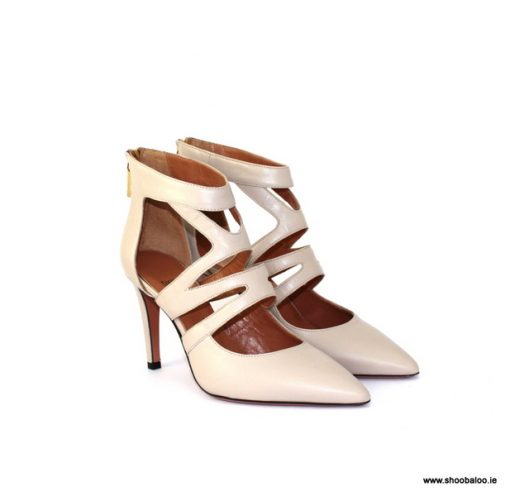 Oxitaly nude strappy court shoe