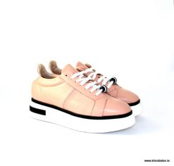 Oxitaly nude leather sneaker