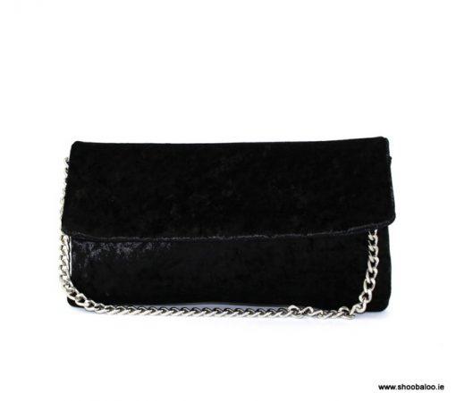 Le Babe black velvet clutch bag