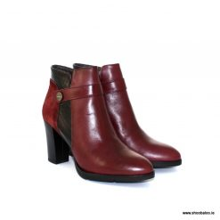 Zeeb high ankle boot in burgundy leather