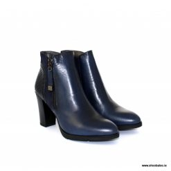 Zeeb high ankle boot in navy leather