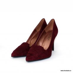 Marian bordeaux court with fringe