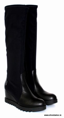 Marco Moreo Chiara low wedge full length boot