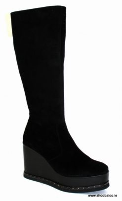 Pedro Anton full length boot in black suede