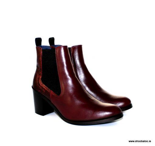 Pinto di Blu burgundy Chelsea boot