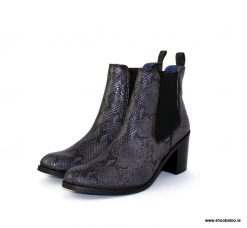 Pinto di Blu grey snake Chelsea boot