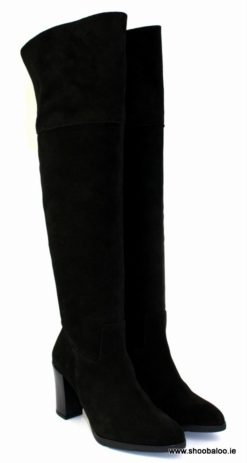 Zeeb over the knee boot in black suede