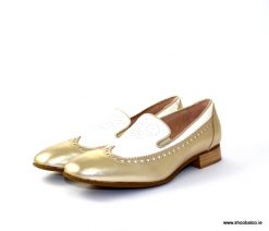 Marco Moreo gold and cream loafer