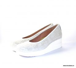 Marco Moreo Mover pump in metallic white