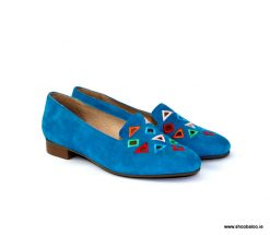 Pinto di Blu turquoise suede loafer