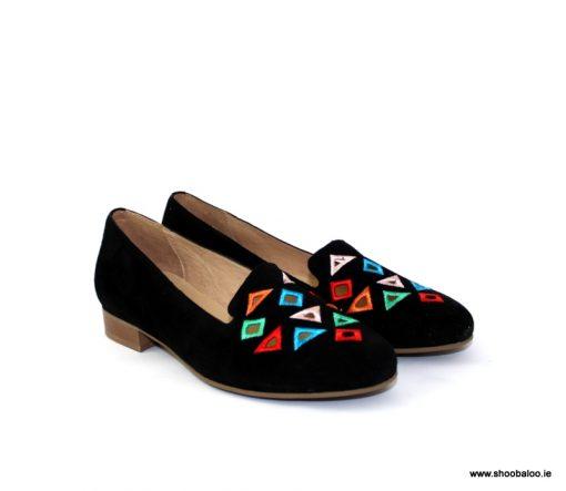 Pinto di Blu black suede loafer