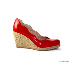 Pedro Anton Kate wedge in red patent