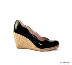 Pedro Anton Kate wedge in black patent