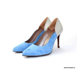 Marian baby blue & silver court