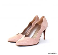 Marian nude shimmer scalloped court