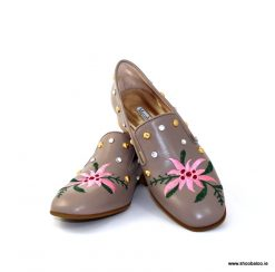 Marco Moreo taupe flower loafer