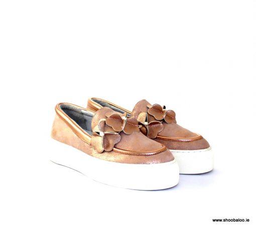 Altraofficina rose gold loafer