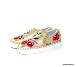 Altraofficina platino slip on with flowers