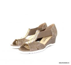 Scolaro taupe wedge sandals