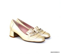 Scolaro gold loafer
