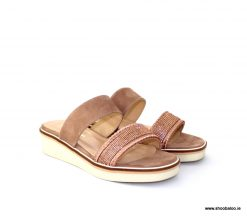 Pedro Anton nude diamante slip on