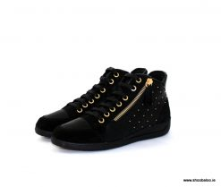 Geox Myria black and gold Hi top