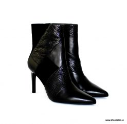 Geox Faviola black leather & suede ankle boot