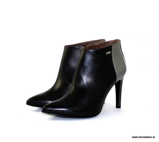 Nero Giardini metallic and black shoeboot