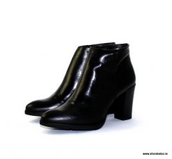 Zeeb by Barminton Black Leather Ankle Boot