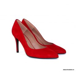 Marian red suede court shoe