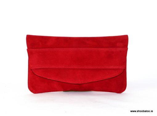 Marian red clutch bag