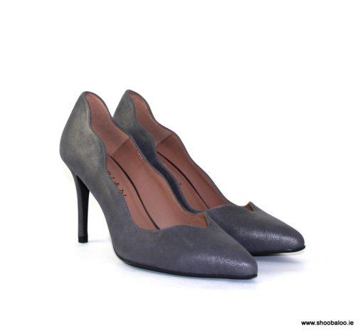 Marian grey scalloped court shoe