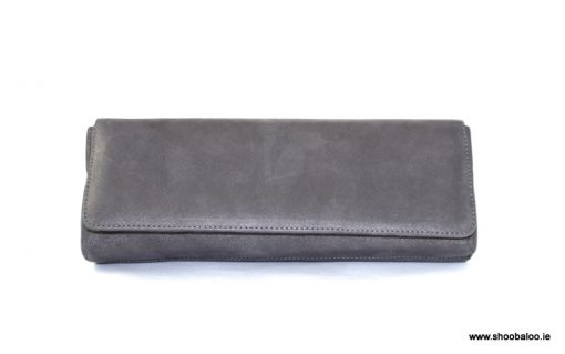 Marian grey clutch bag